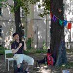 Vätertag Musiker mit Schlaginstrument